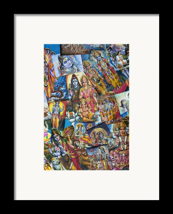 Hindu Deity Posters Framed Print By Tim Gainey