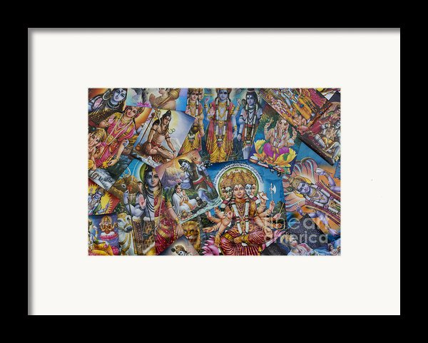 Hindu Posters Framed Print By Tim Gainey