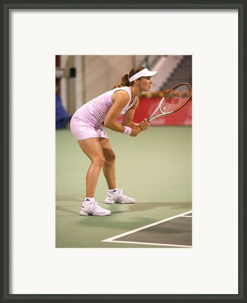 Hingis In Doha Framed Print By Paul Cowan