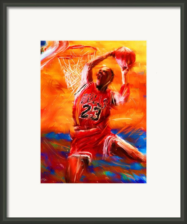 His Airness Framed Print By Lourry Legarde