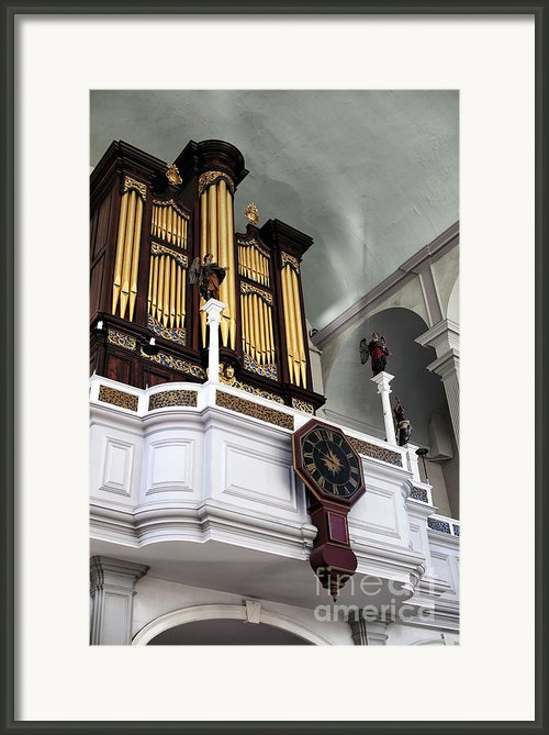 Historic Organ Framed Print By John Rizzuto