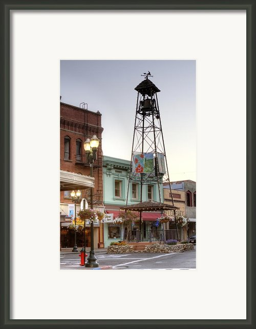 Historic Placerville Bell Tower Framed Print By Steve Barr