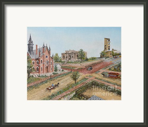 Historic Street - Lawrence Ks Framed Print By Mary Ellen Anderson