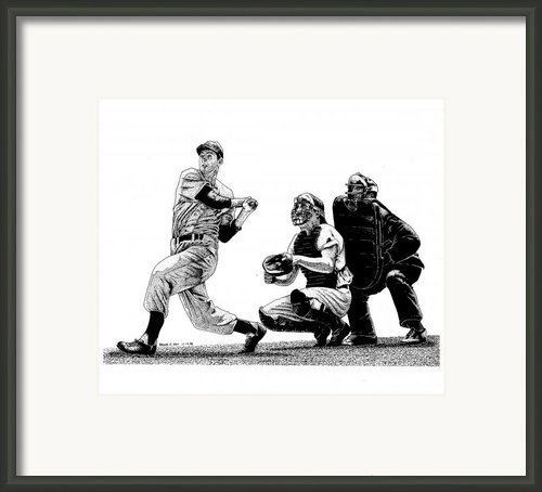 Hitting Streak Framed Print By Bruce Kay