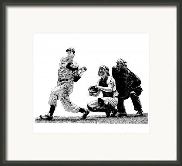 Hitting Streak Framed Print By Bruce Kay