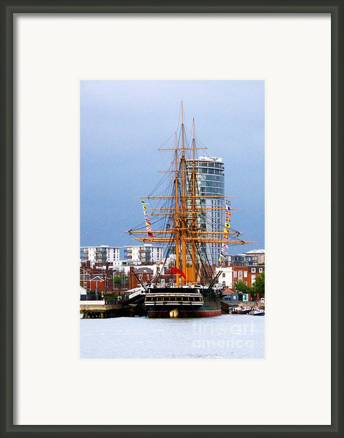 H.m.s. Warrior Portsmouth Framed Print By Terri  Waters