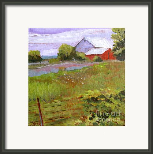 Hobbs Farm Framed Print By Charlie Spear