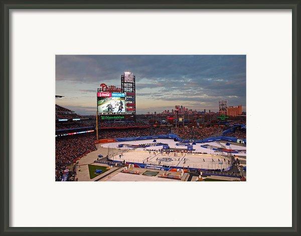 Hockey At The Ballpark Framed Print By David Rucker