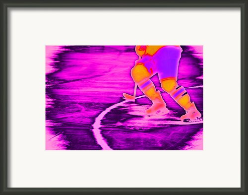 Hockey Freeze Framed Print By Karol  Livote