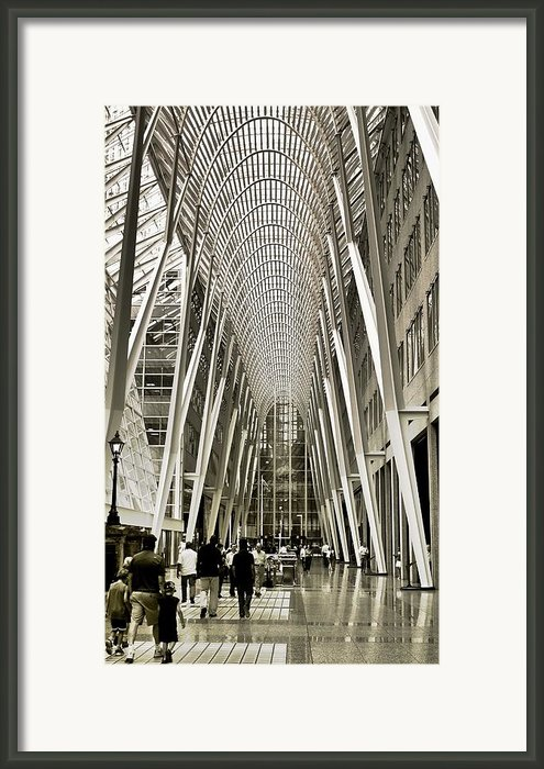 Hockey Hall Of Fame - Galleria Framed Print By Carson Buzdegan