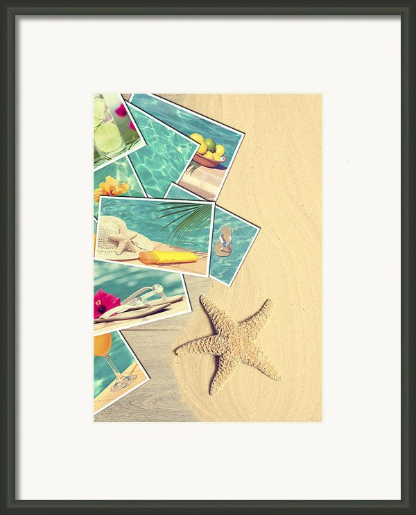 Holiday Postcards Framed Print By Christopher And Amanda Elwell