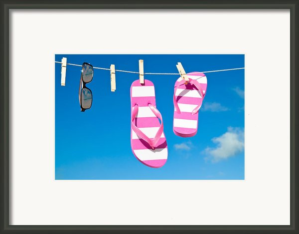 Holiday Washing Line Framed Print By Christopher And Amanda Elwell