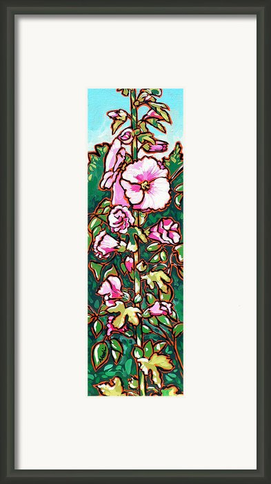 Hollyhock Framed Print By Nadi Spencer