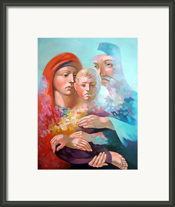 Holy Family Framed Print By Filip Mihail