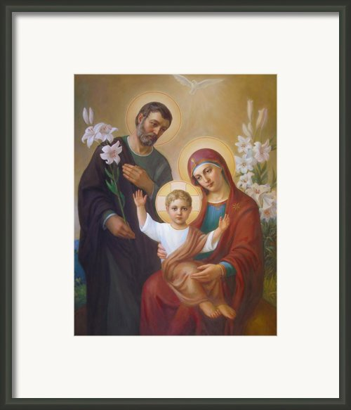 Holy Family Framed Print By Svitozar Nenyuk