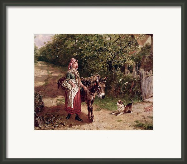 Home From Market Framed Print By Edgar Bundy