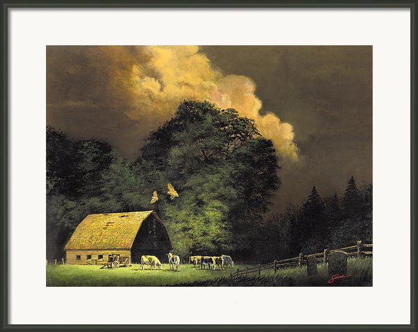 Home From The Hunt Framed Print By Harold Shull