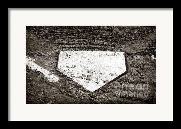 Home Plate Framed Print By John Rizzuto