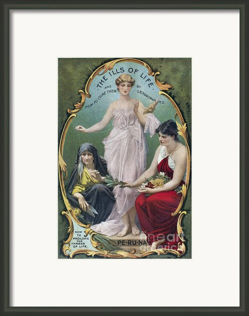 Home Remedy Manual, C1904 Framed Print By Granger