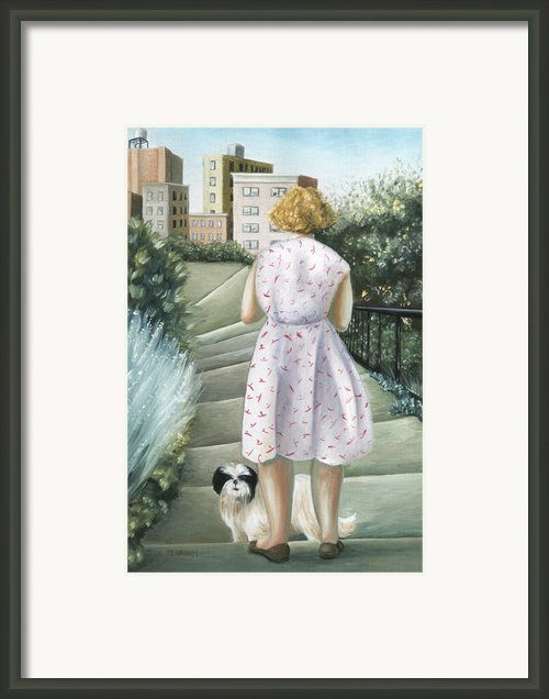 Home Study Framed Print By Caroline Jennings
