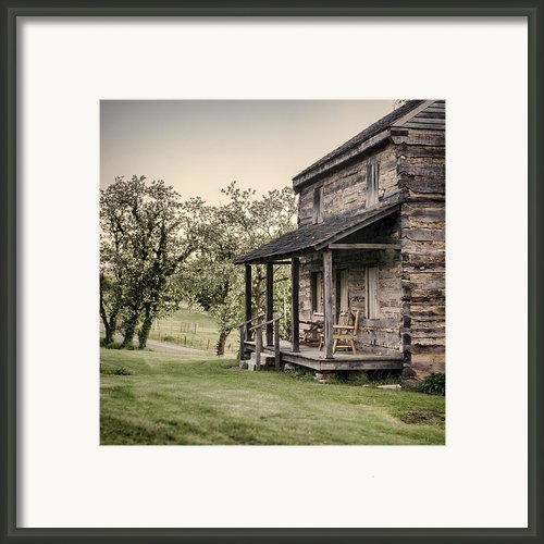 Homestead At Dusk Framed Print By Heather Applegate