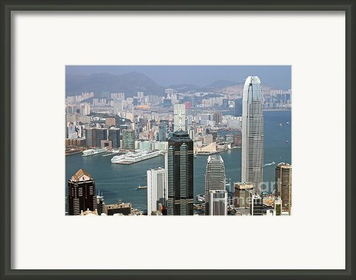 Hong Kong Skyline Framed Print By Lars Ruecker
