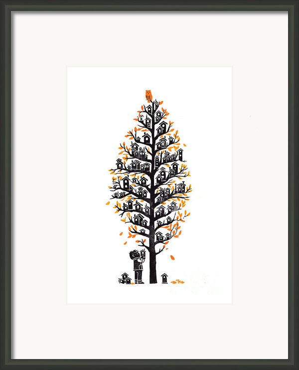 Hoot Lodge Framed Print By Budi Satria Kwan
