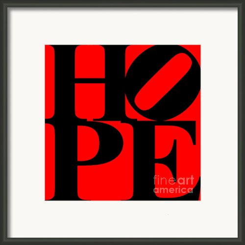 Hope 20130710 Black Red Framed Print By Wingsdomain Art And Photography