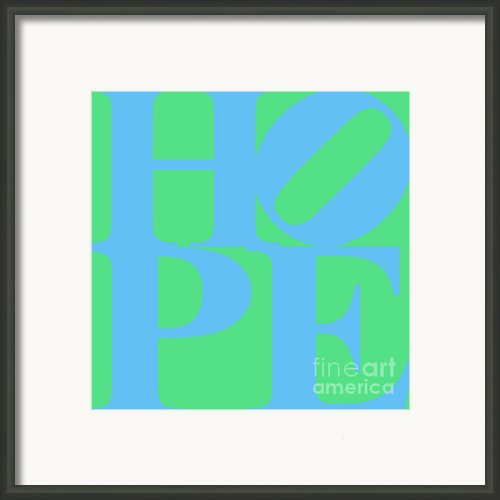 Hope 20130710 Blue Green Framed Print By Wingsdomain Art And Photography
