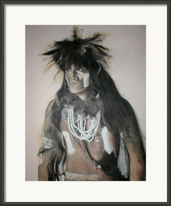 Hopi Snake Priest Framed Print By Terri Ana Stokes