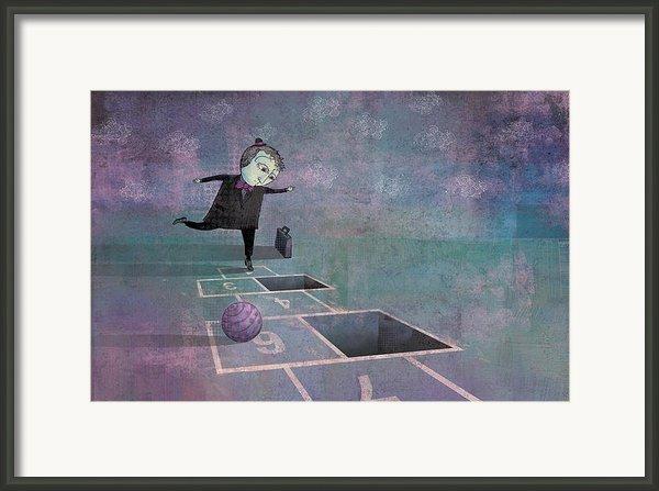 Hopscotch2 Framed Print By Dennis Wunsch