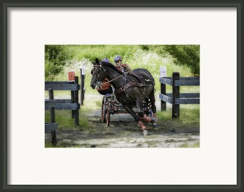 Horsepower Part Ii Framed Print By Erik Brede