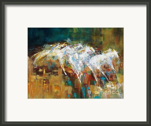 Horses West Of Boulder Framed Print By Frances Marino