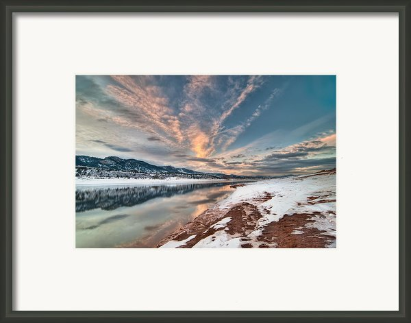 Horsetooth Sunset Hdr Framed Print By Preston Broadfoot