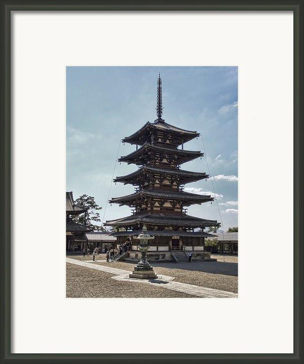 Horyu-ji Temple Pagoda - Nara Japan Framed Print By Daniel Hagerman