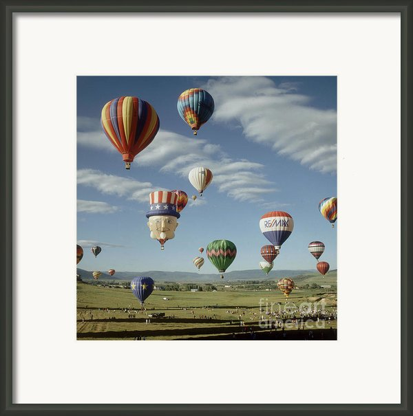 Hot Air Balloon Framed Print By Jim Steinberg