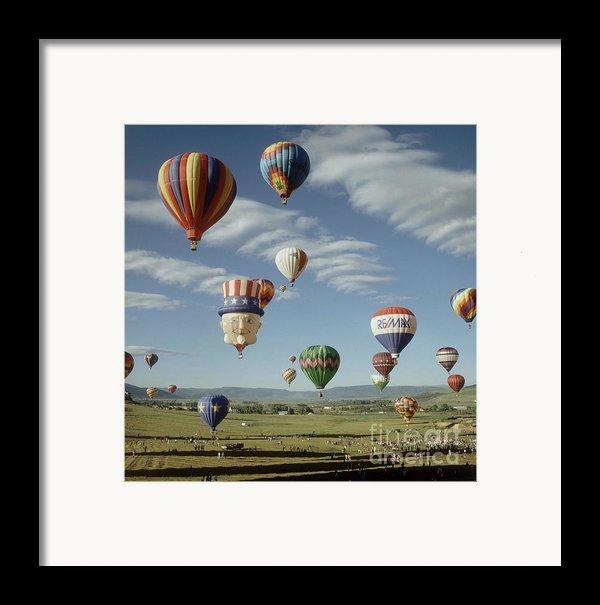 Hot Air Balloon Framed Print By Jim Steinberg