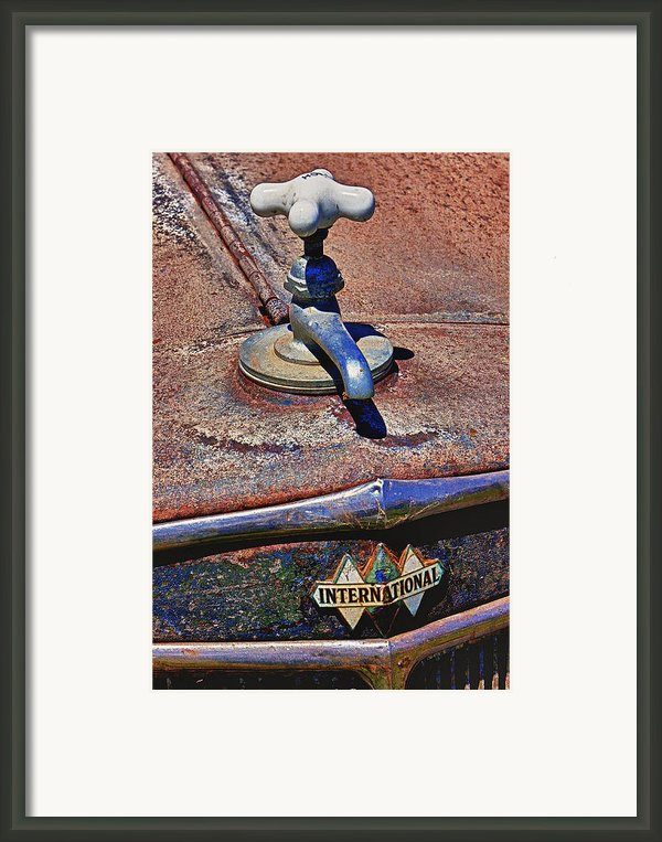 Hot Faucet Hood Ornament Framed Print By Garry Gay