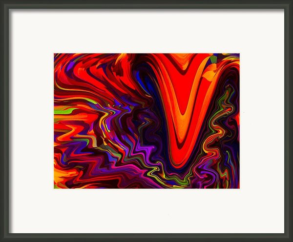 Hot Kiss Framed Print By Imani  Morales