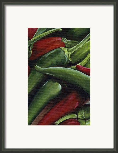 Hot Peppers Framed Print By Natasha Denger