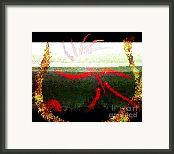 Hot Soccer Sauce Framed Print By Navo Art