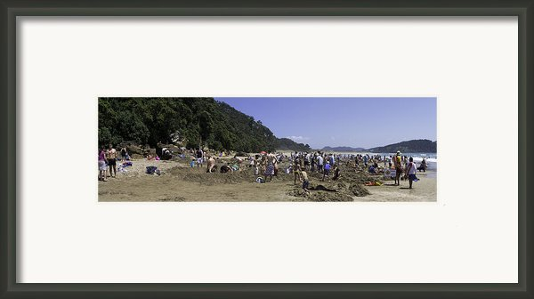 Hot Water Beach Framed Print By Tim Mulholland