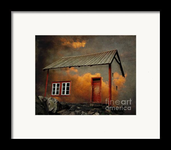 House In The Clouds Framed Print By Sonya Kanelstrand