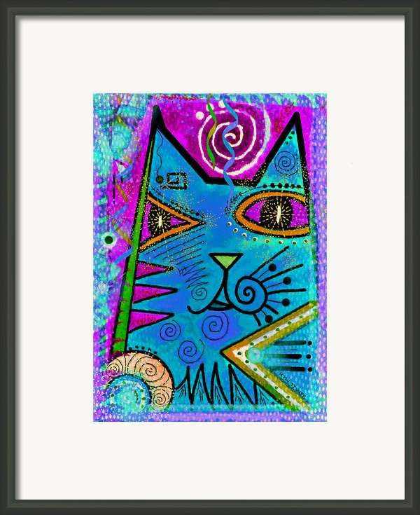 House Of Cats Series - Dots Framed Print By Moon Stumpp