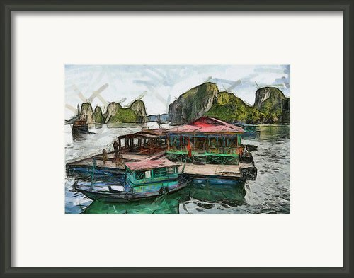 House On The Sea Framed Print By Teara Na