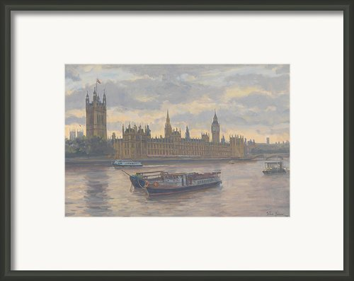 Houses Of Parliament Framed Print By Julian Barrow