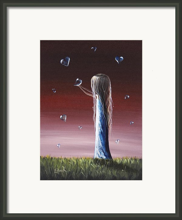 How She Says I Miss You By Shawna Erback Framed Print By Shawna Erback
