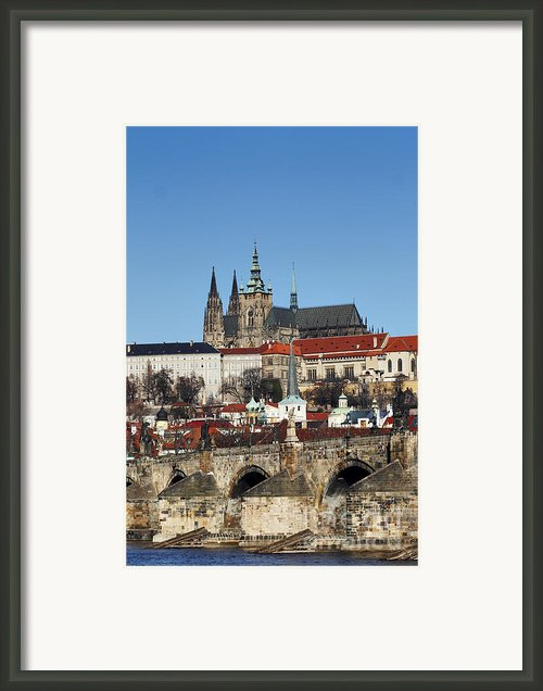 Hradcany - Prague Castle Framed Print By Michal Boubin