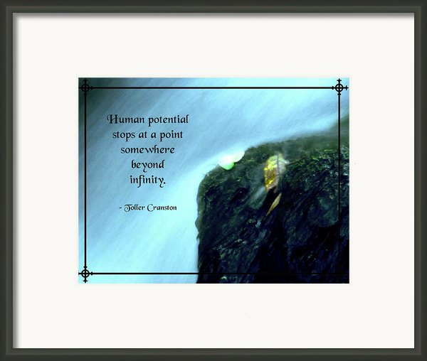Human Potential Framed Print By Mike Flynn