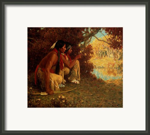 Hunting For Deer Framed Print By Eanger Irving Couse